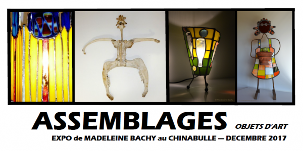 exposition art sculpture verre vitraux assemblages madeleine bachy chinabulle gaillac tarn 81