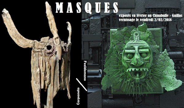exposition chinabulle vernissage masques carpaneto feeldemano gaillac tarn 81